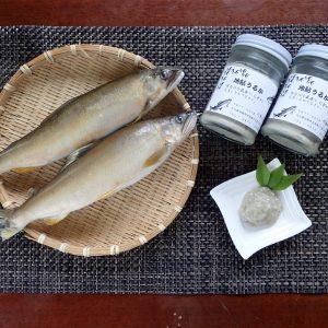 川魚まつむら(松村タイヤ商会)の冷凍鮎、うるか
