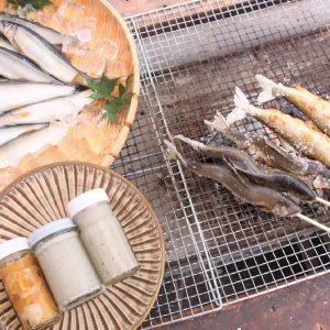 漁師の店えとうの生鮎、鮎の塩焼き、うるか