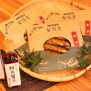 日田玖珠地域産業振興センターの鮎の甘露煮と鮎魚醤